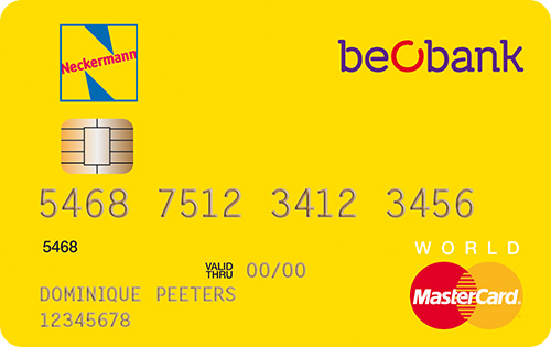 De BeoBank Neckermann betaalkaart