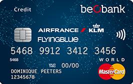 Flying Blue World betaalkaart van BeoBank