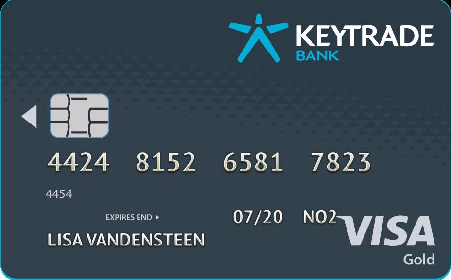 Keytrade Bank Online kaart aanvragen